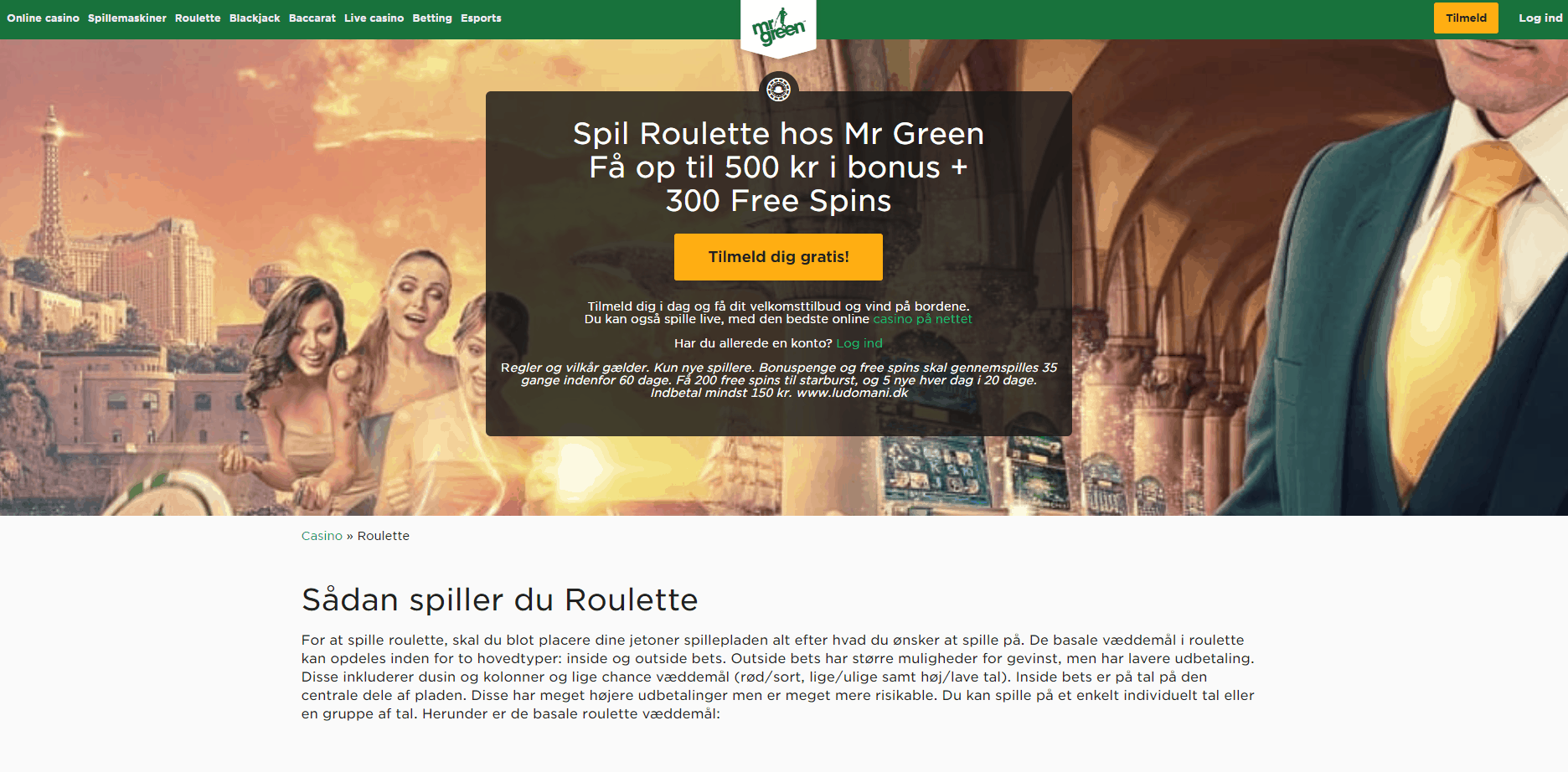 Mr Green Casino Roulette